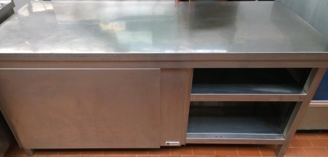 Tavolo armadiato acciaio usato termosifoni in ghisa - Cucina inox usata ...